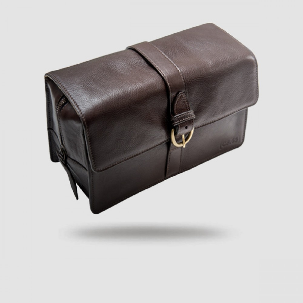 Leather Washbag - Captain Fawcett -