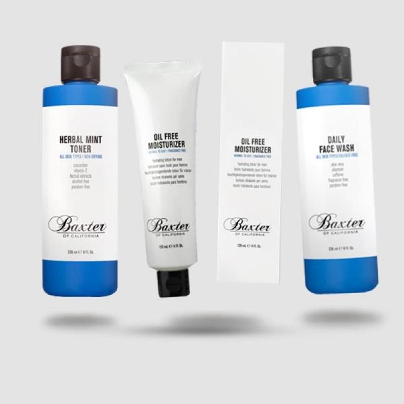 Skin Kit 123 - Baxter Of California - Daily Face Wash | Herbal Mint Toner | Oil Free Moisturizer