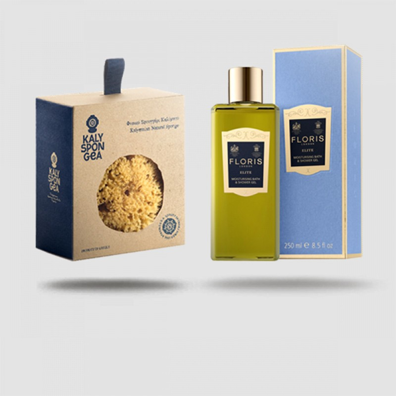 Luxury Shower Kit - Floris Elite Αφρόλουτρο  | Φυσικό Σφουγγάρι