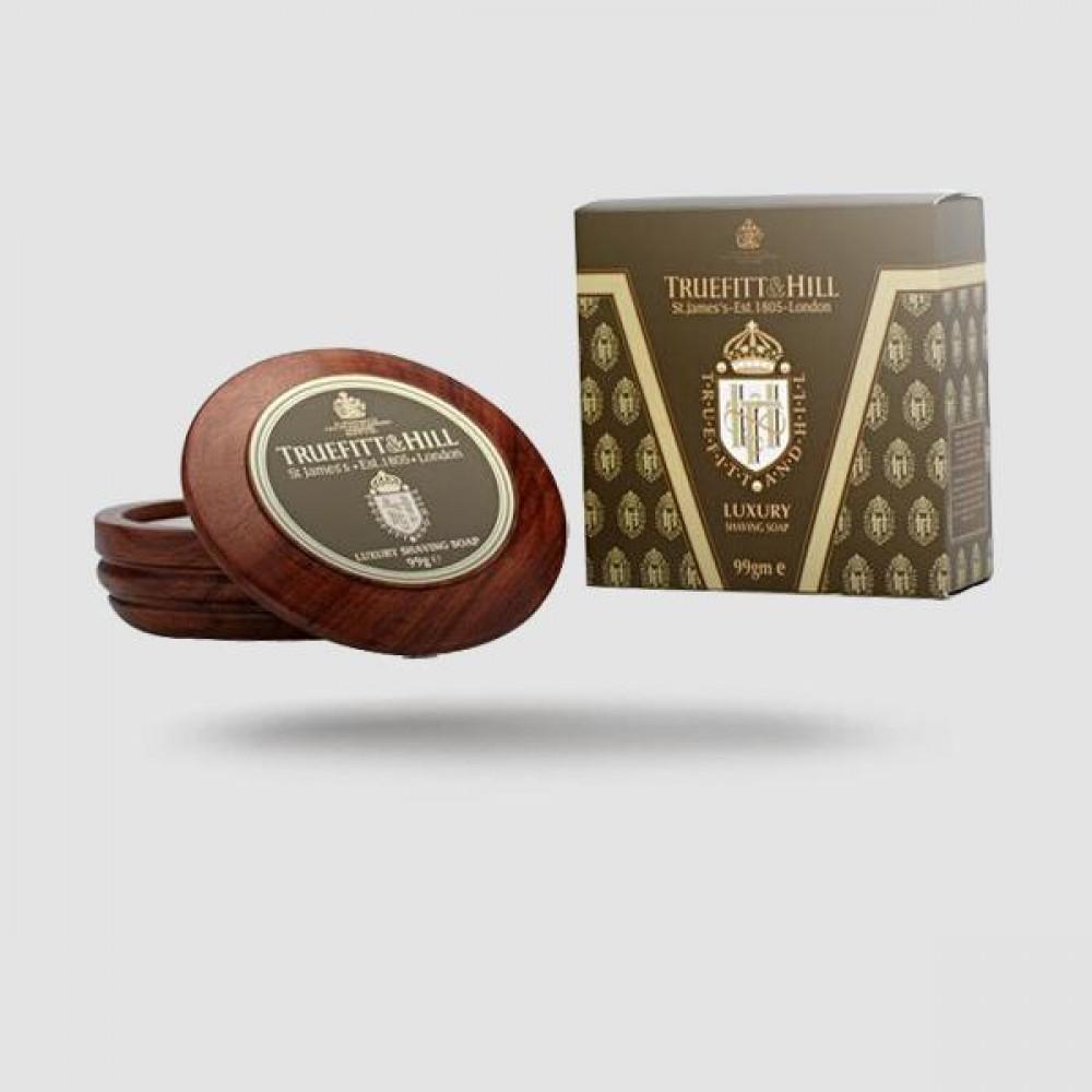 Σαπούνι Ξυρίσματος Σε Ξύλινο Μπωλ - Truefitt And Hill - Luxury 99g