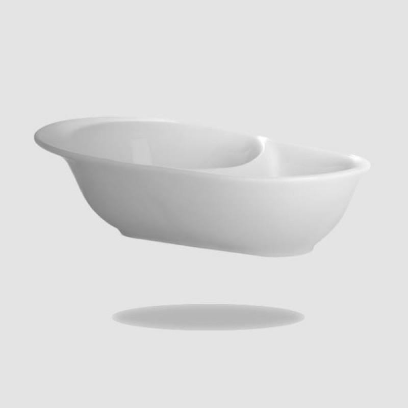 Μπωλ Για Ξύρισμα - Muhle - Λευκή Πορσελάνη Με Δοχείο Νερού (Rn 5)