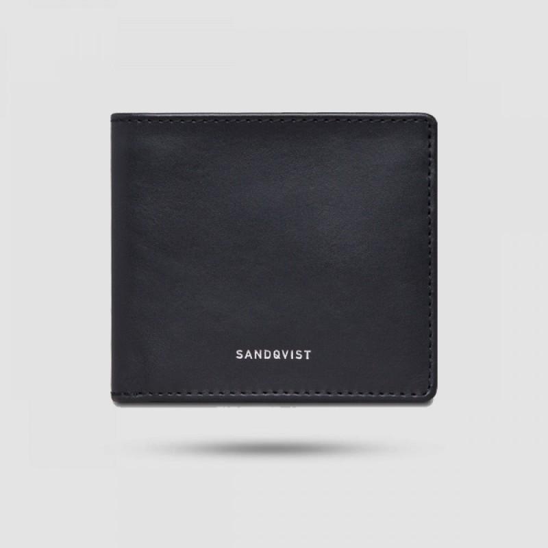 Πορτοφόλι Ανδρικό - Sandqvist - Manfred Σε Μαύρο Χρώμα