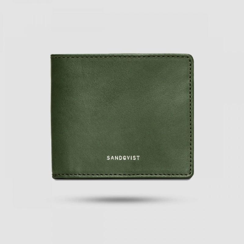 Πορτοφόλι Ανδρικό - Sandqvist - Manfred Σε Πράσινο Χρώμα