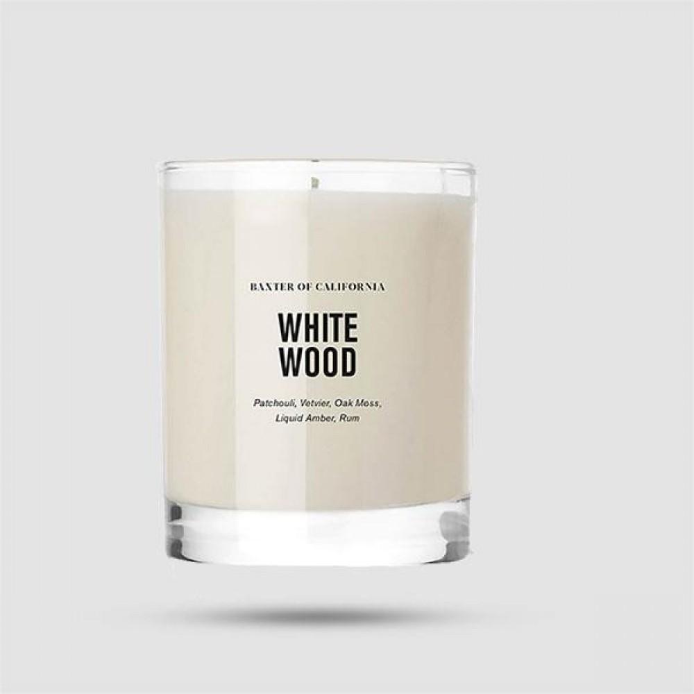 Αρωματικό Κερί Χώρου - Baxter of California - White Wood Candle 168 g | 6 oz