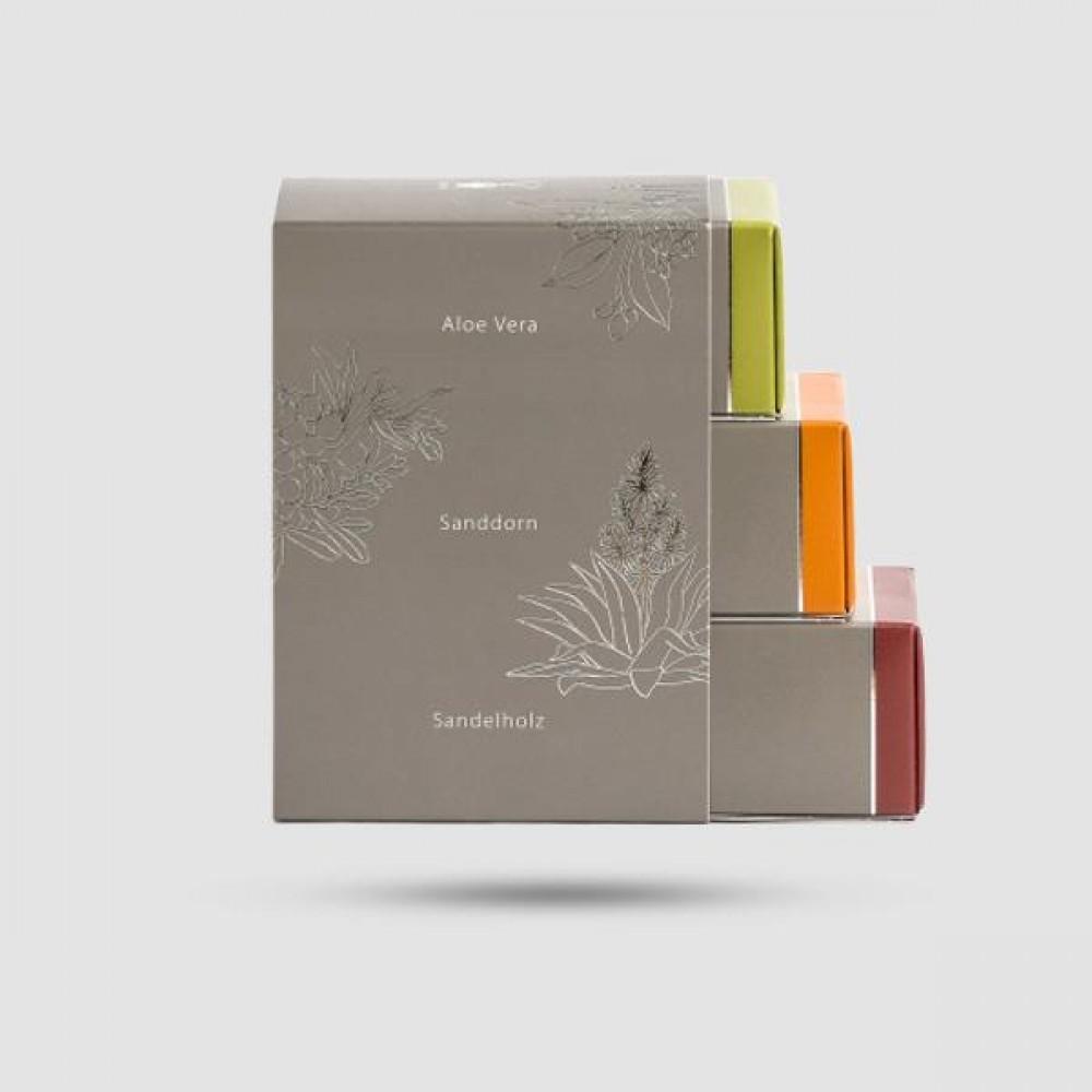 Σετ Δώρου - Muhle - 3 x Σαπούνια Ξυρίσματος Αλόη Βέρα, Σανδαλόξυλο, Sea Buckthorn