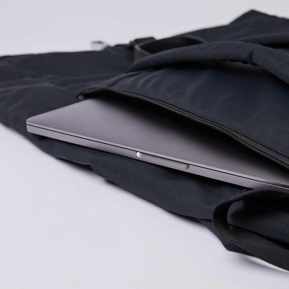 Backpack - Sandqvist - Siv - Black With Black Leather