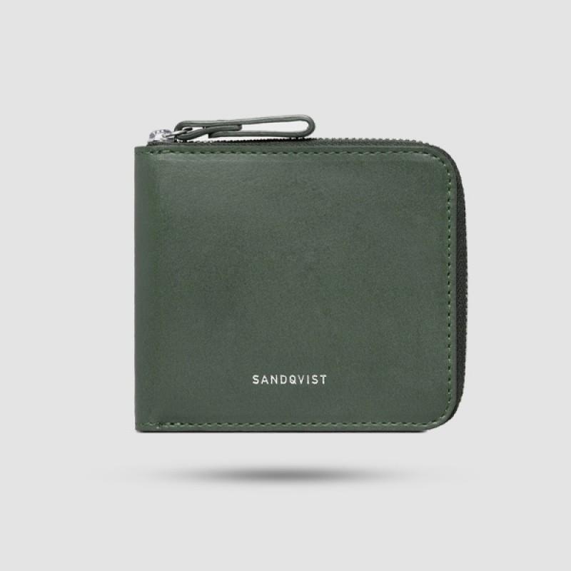 Πορτοφόλι Ανδρικό - Sandqvist - Tyko Σε Πράσινο Χρώμα