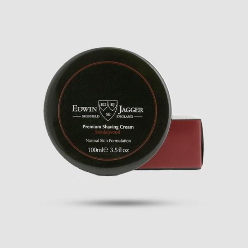 Κρέμα Ξυρίσματος - Edwin Jagger - Με Άρωμα Σανδαλόξυλο 100ml - (Pps-scsw)