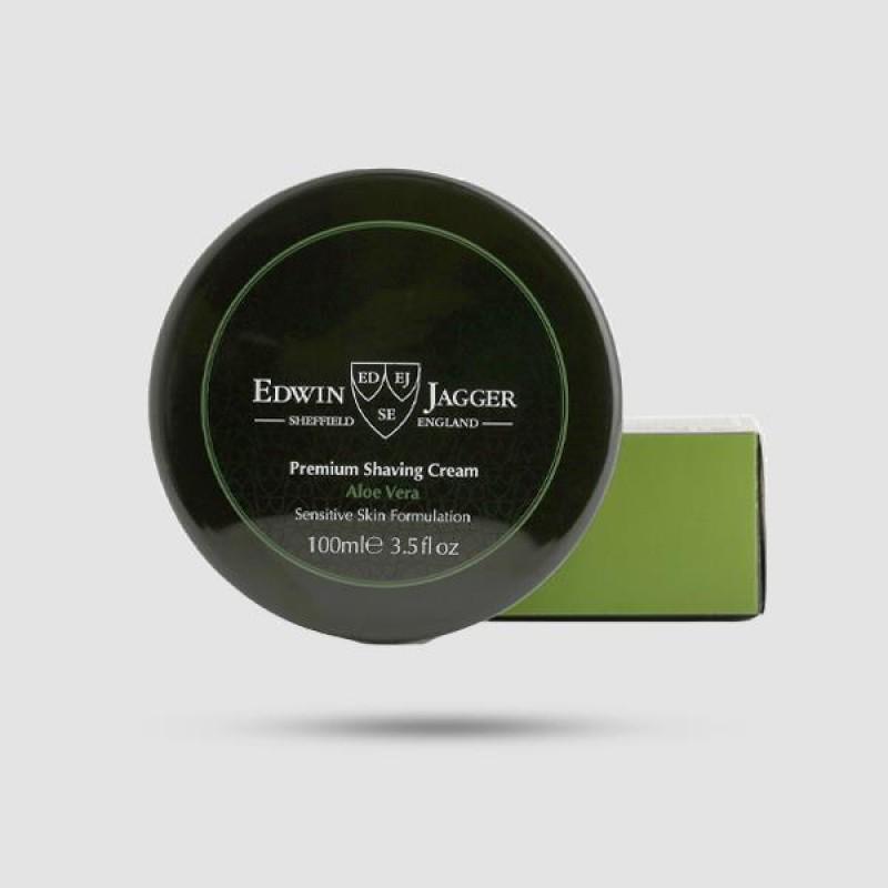 Κρέμα Ξυρίσματος - Edwin Jagger - Με Άρωμα Αλόη Βέρα 100ml - (Pps-scav)