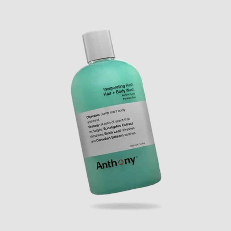 Αφρόλουτρο Μαλλιών Και Σώματος - Anthony - Αναζωογονητικό, Invigorating Rush Hair And Body Wash 355ml