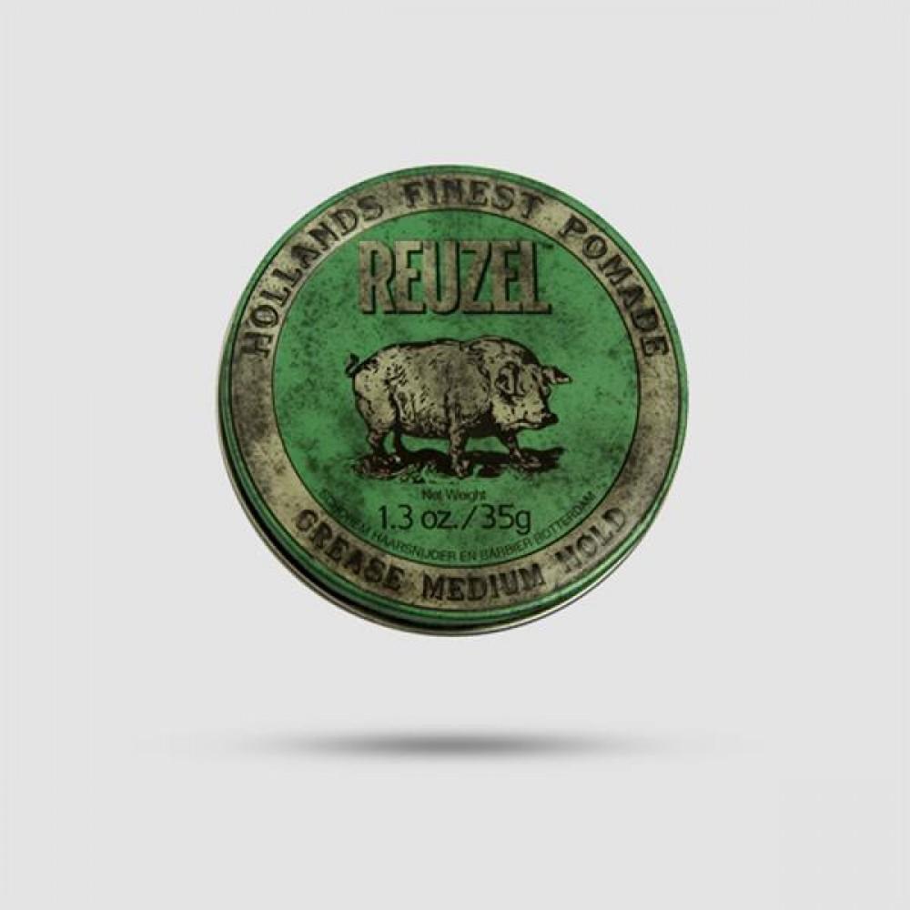 Πομάδα Για Μαλλιά - Reuzel - Green Μεσσαίο Κράτημα 35g / 1.3oz