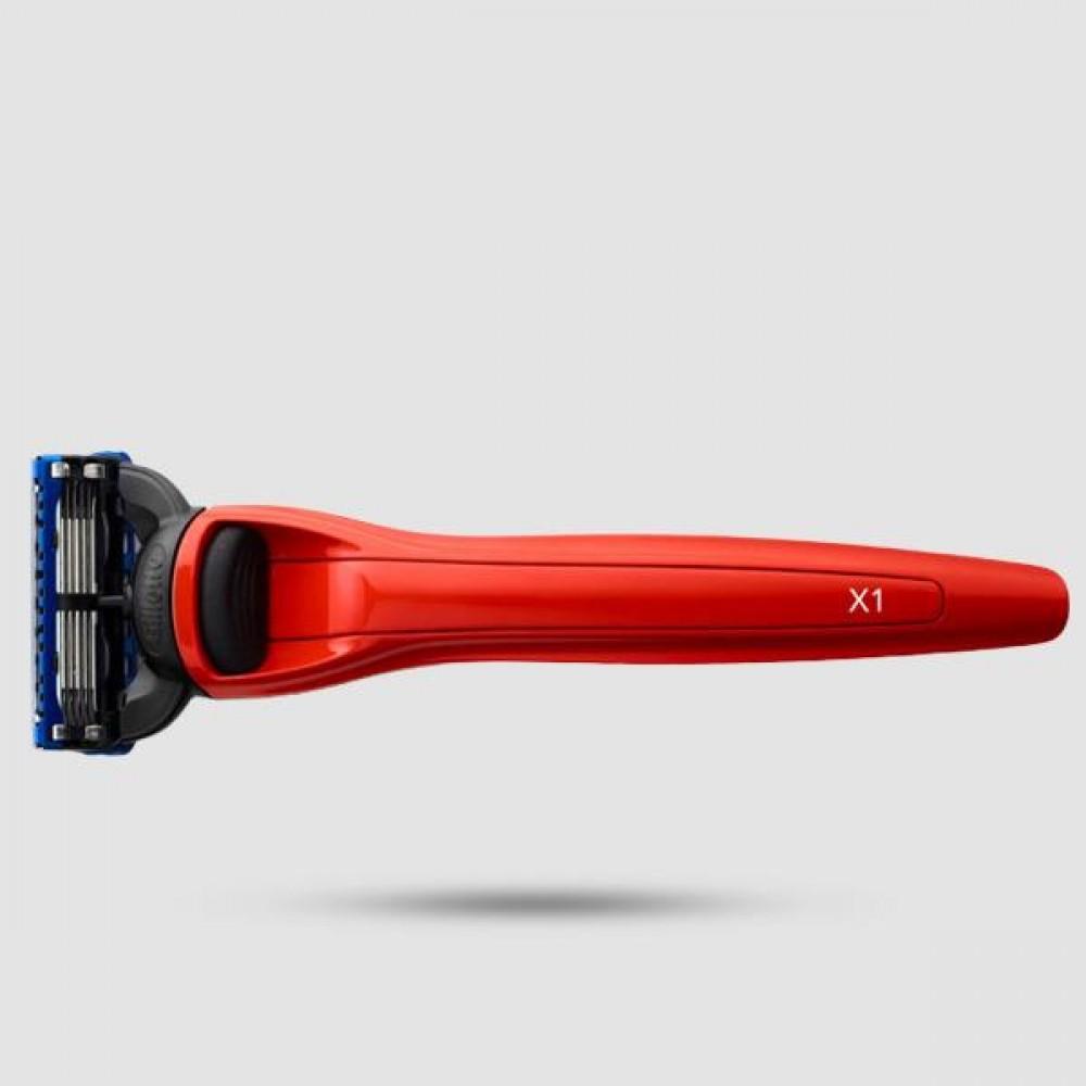 Ξυράφι 5 Λεπίδων - Bolin Webb - X1 Cooper Red