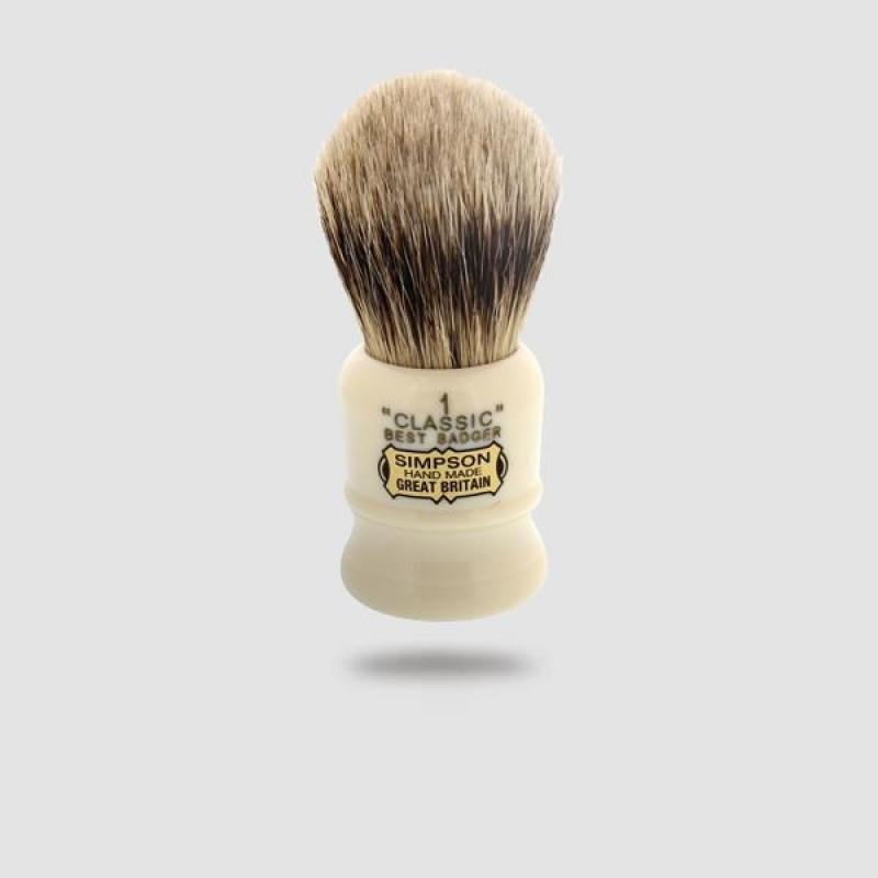 Πινέλο Ξυρίσματος Ασβού - Simpson - Best Badger, Classic (Cl1b)