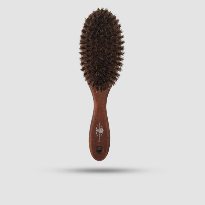 Ξύλινη Βούρτσα Μαλλιών Με Μαλακές Σκουρόχρωμες 100% Φυσικές Τρίχες Αγριόχοιρου