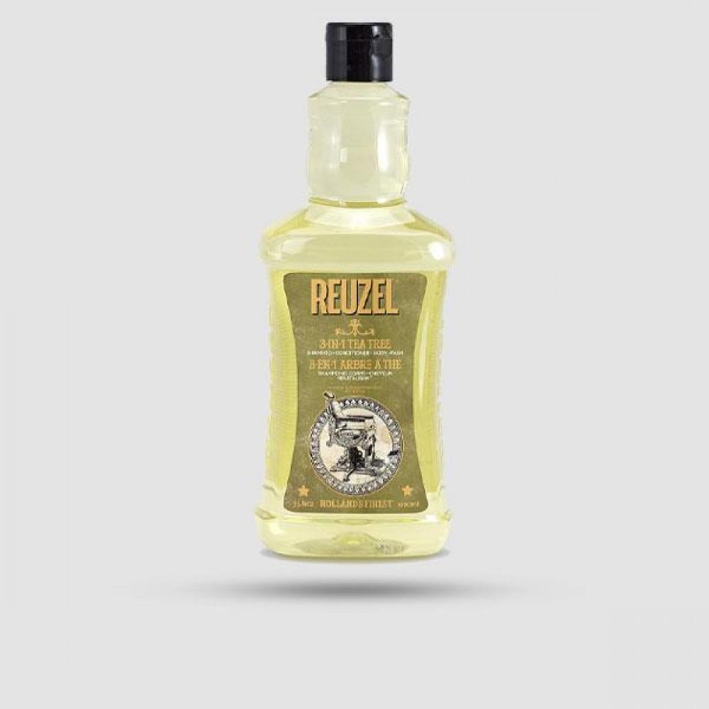 Σαμπουάν Για Μαλλιά | Γενιά | Σώμα - Reuzel - 3-in-1 Tea Tree 1000ml