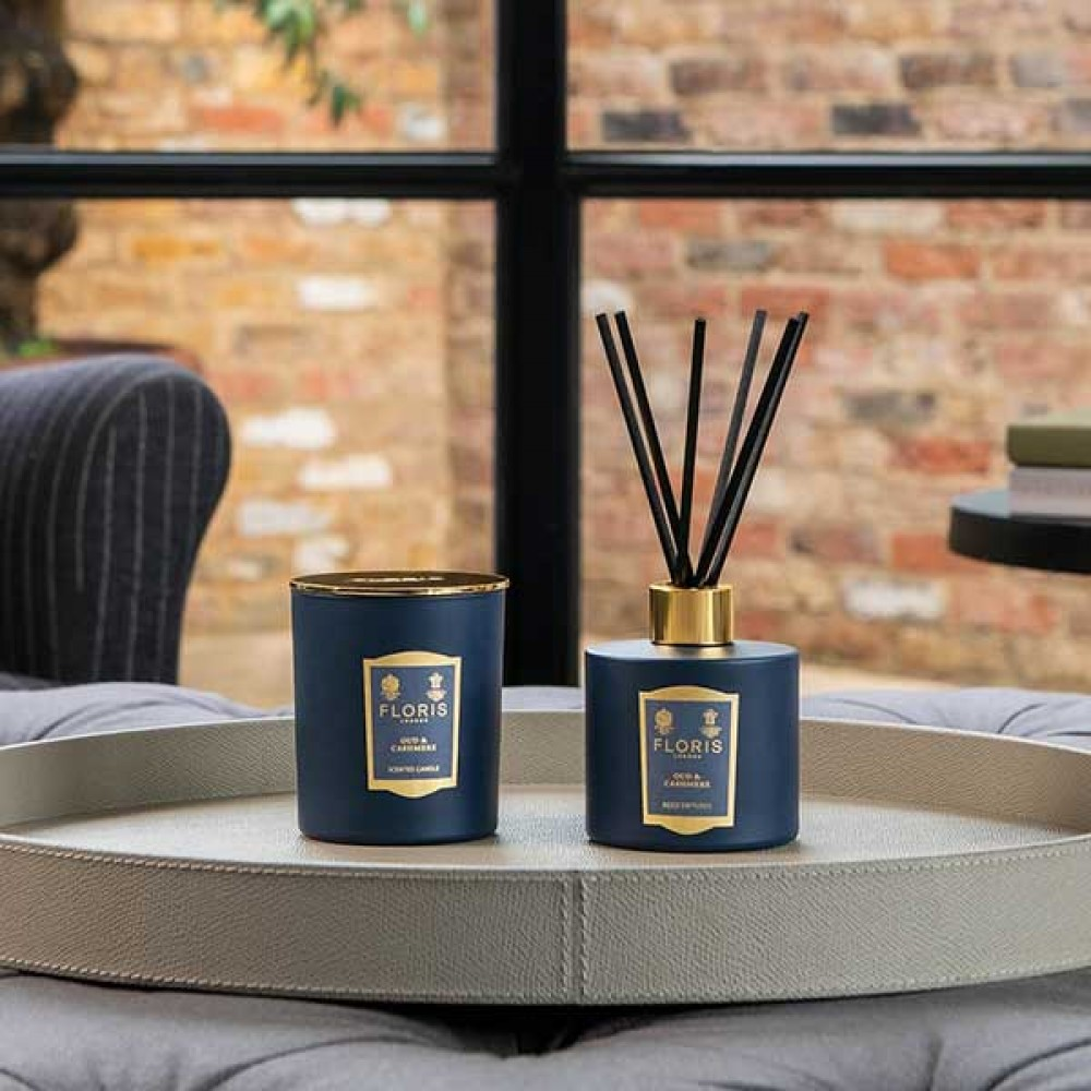 Reed Diffuser - Floris - Oud & Cashmere 200ml
