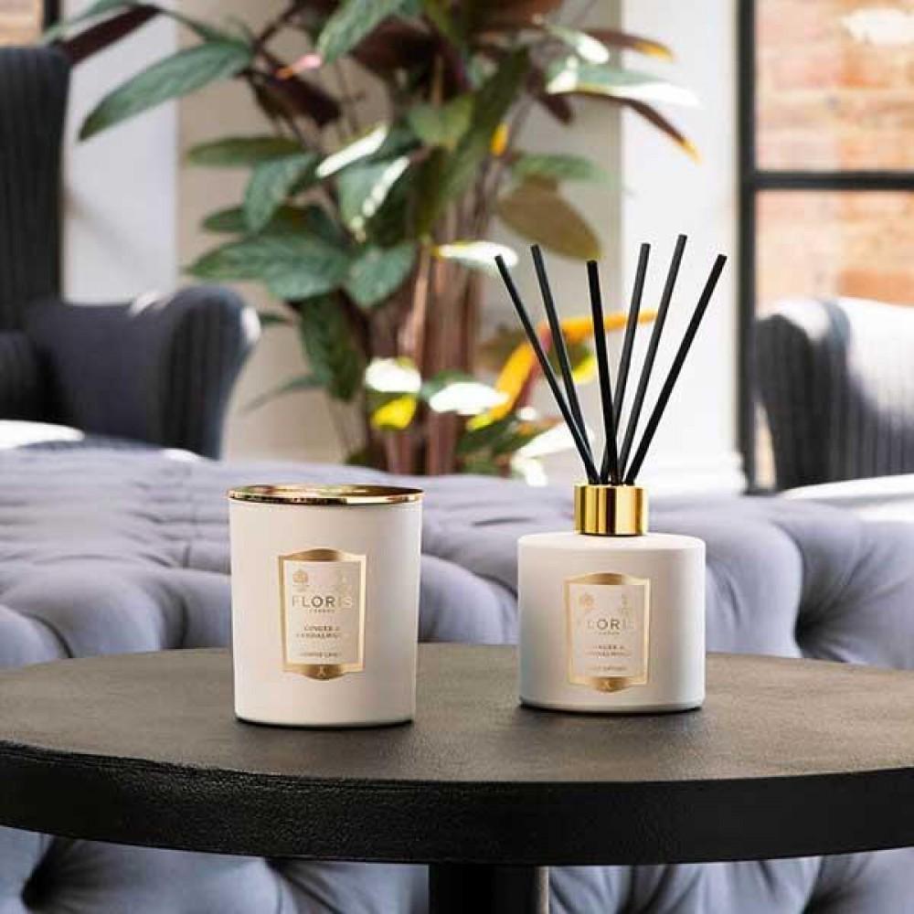 Reed Diffuser - Floris - Ginger & Sandalwood 200ml