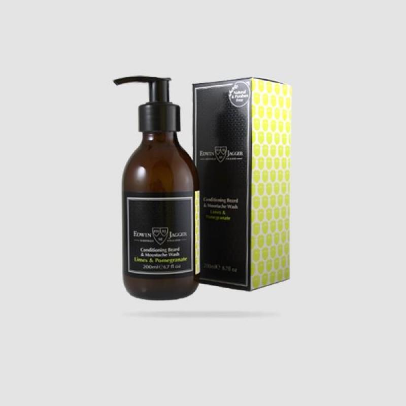 Beard & Moustache Wash - Edwin Jagger - Limes & Pomegranate 200ml (Pps-bwlp)