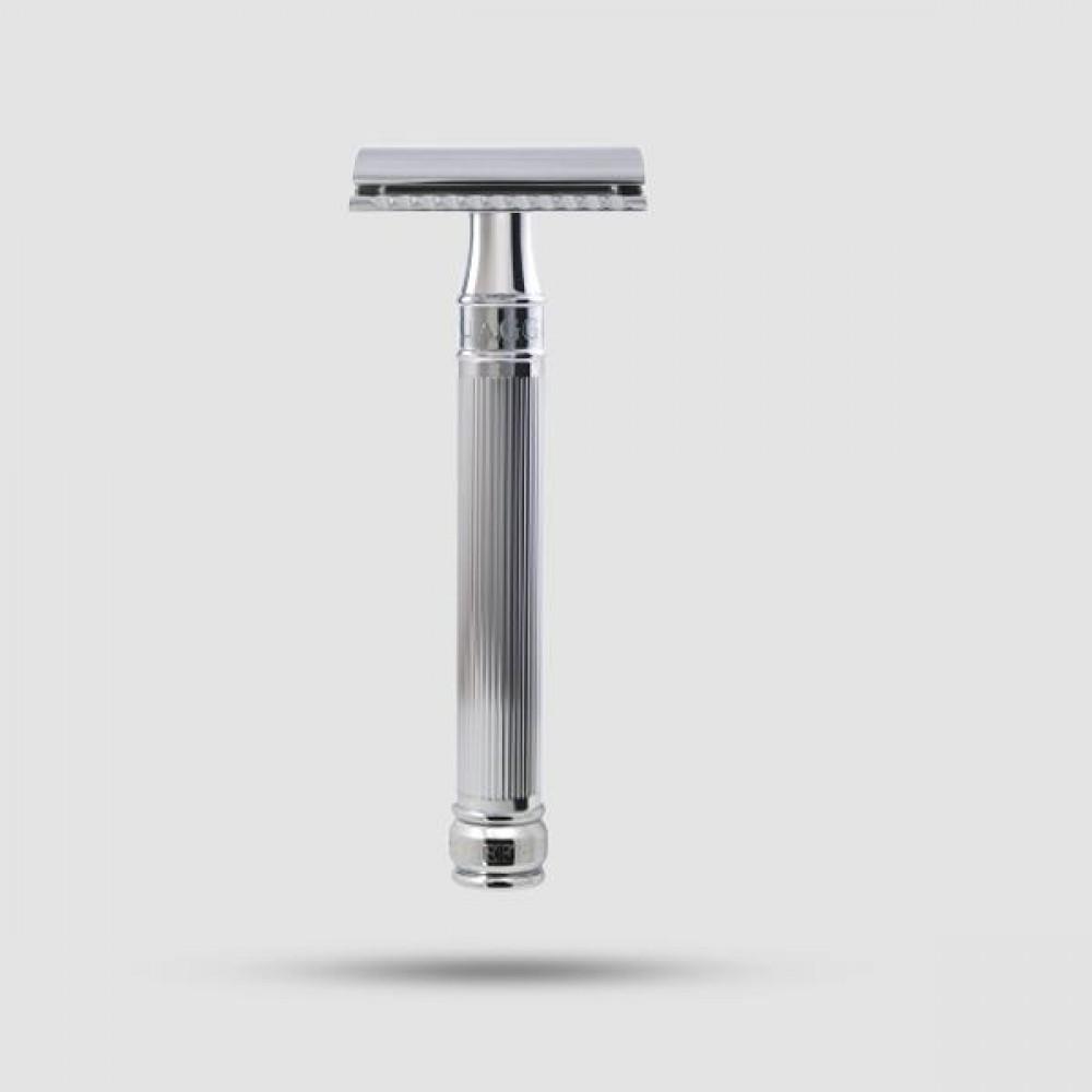 Ξυριστική Μηχανή - Edwin Jagger - Με Λαβή Χρωμίου (Pps-del89li14bl)