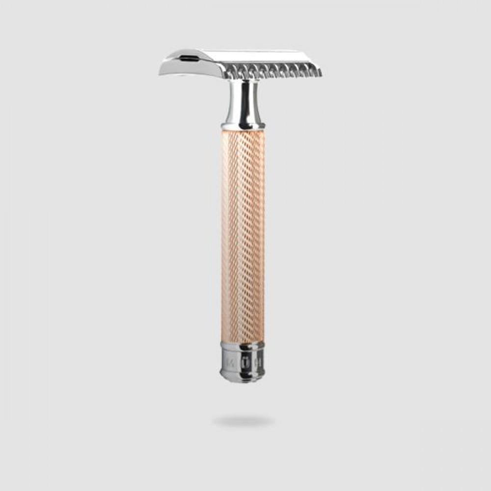Ξυριστική Μηχανή - Muhle Traditional - R 41, Open Comb Ροζ-χρυσό