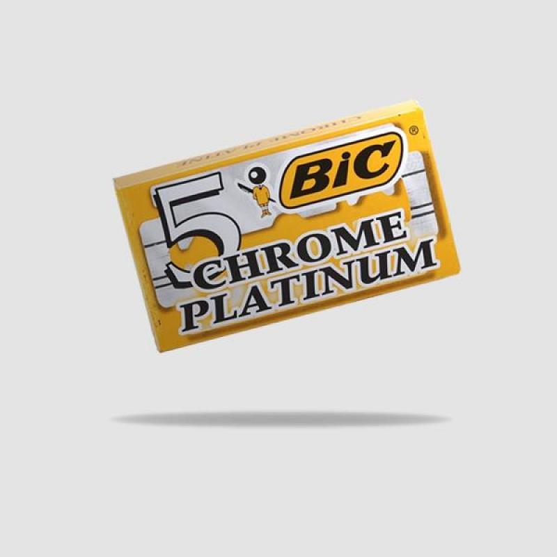 Ανταλλακτικές Λεπίδες Ξυρίσματος - Bic - Chrome Platinum 1 X 5