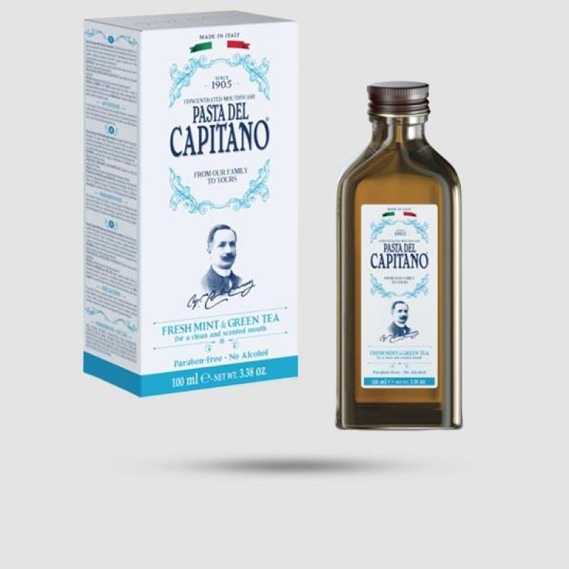 Στοματικό Διάλυμα - Pasta del Capitano 1905 - Μέντα | Πράσινο Τσάι 100ml