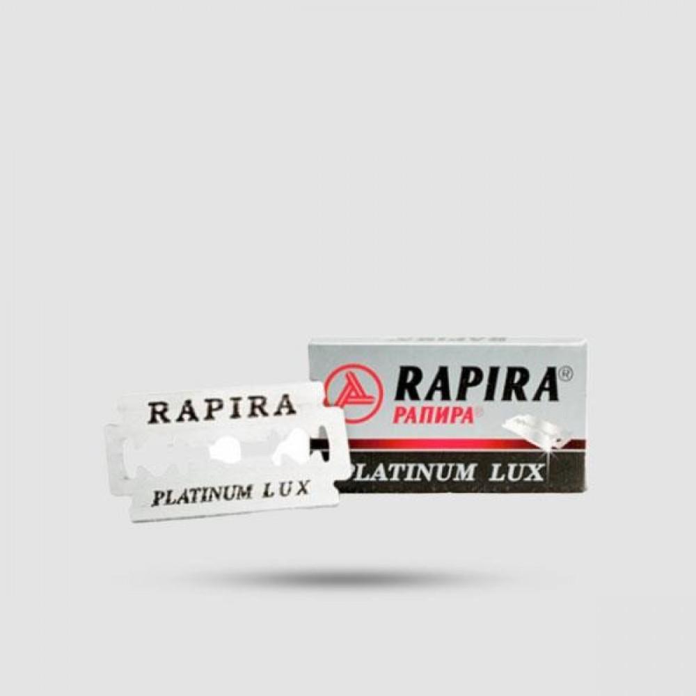 Ανταλλακτικές Λεπίδες Ξυρίσματος - Rapira - Rapira Platinum Lux 1 X 5