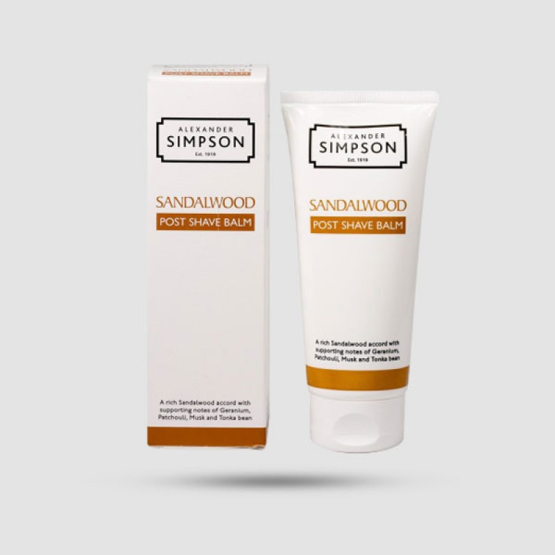 After Shave Balm - Simpsons - Sandalwood 100ml