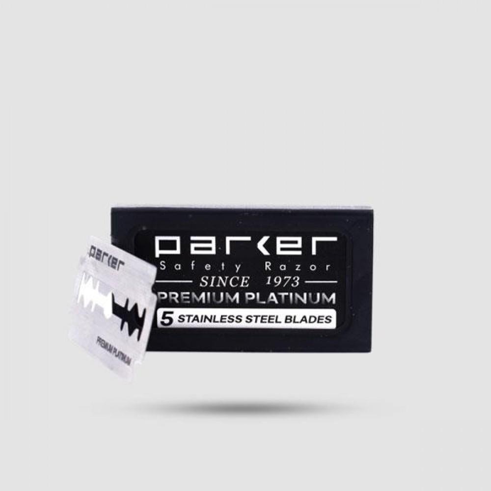 Λεπίδες Ξυρίσματος - Parker - Premium Platinum 1 X 5 Τεμάχια