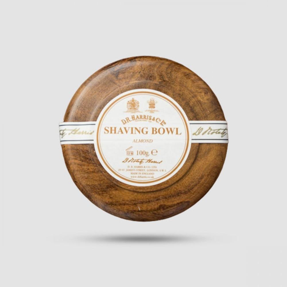 Σαπούνι Ξυρίσματος Σε Ξύλινο Μπολ - D. R. Harris - Αμύγδαλο 100g