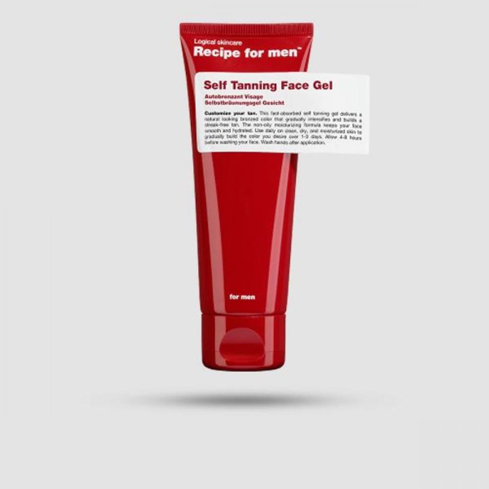 Self Tanning Face Gel - Recipe For Men - 75ml