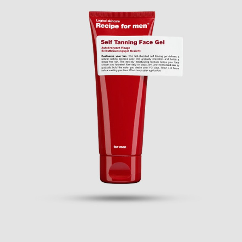 Self Tanning Face Gel - Recipe For Men - 75ml
