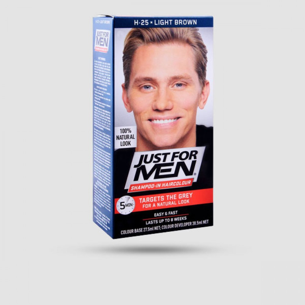Βαφή Για Μαλλιά - Just For Men - Shampoo-In Color Light Brown H-25