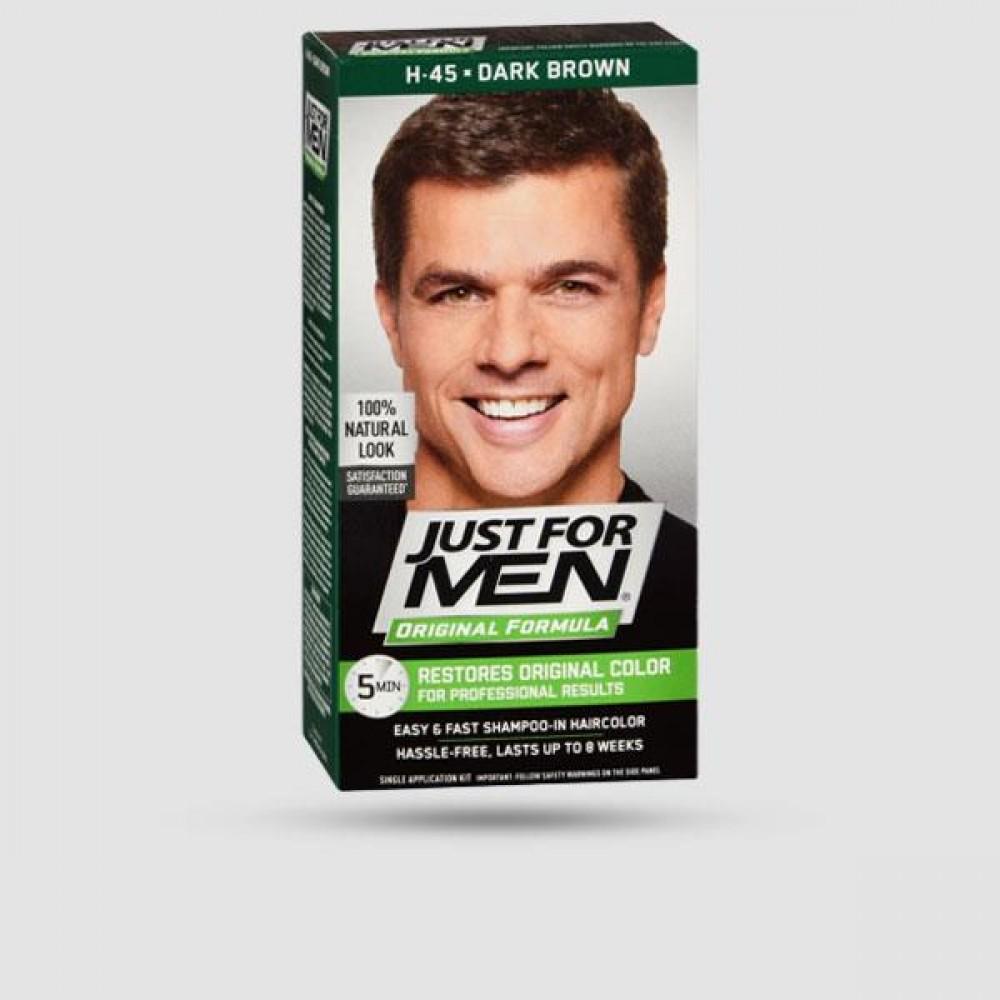 Βαφή Για Μαλλιά - Just For Men - Shampoo-In Color Dark Brown H-45
