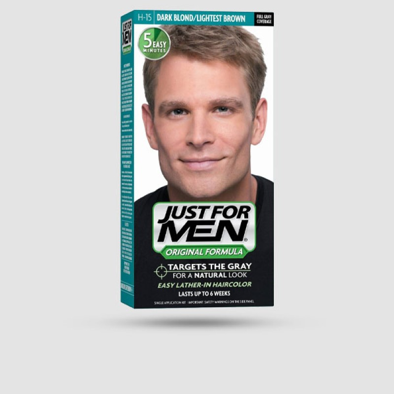 Βαφή Για Μαλλιά - Just For Men - Shampoo-In Color H-15 Dark Blond