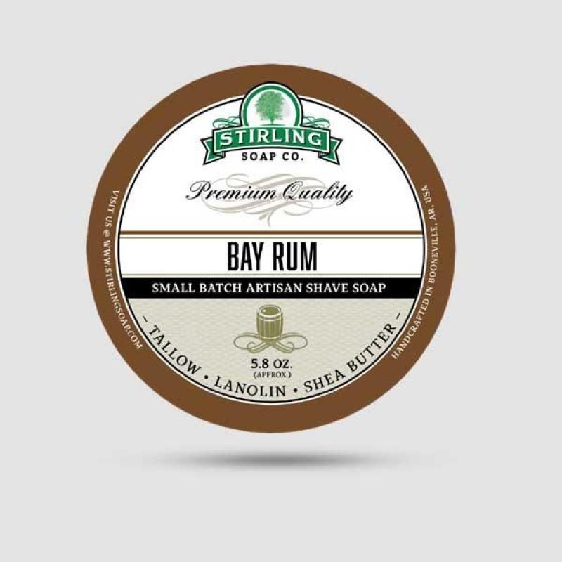Σαπούνι Ξυρίσματος - Stirling Soap Company -  Bay Rum 170ml