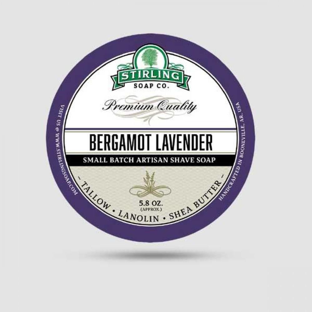 Σαπούνι Ξυρίσματος - Stirling Soap Company - Με Άρωμα Περγαμόντο & Λεβάντα 170ml