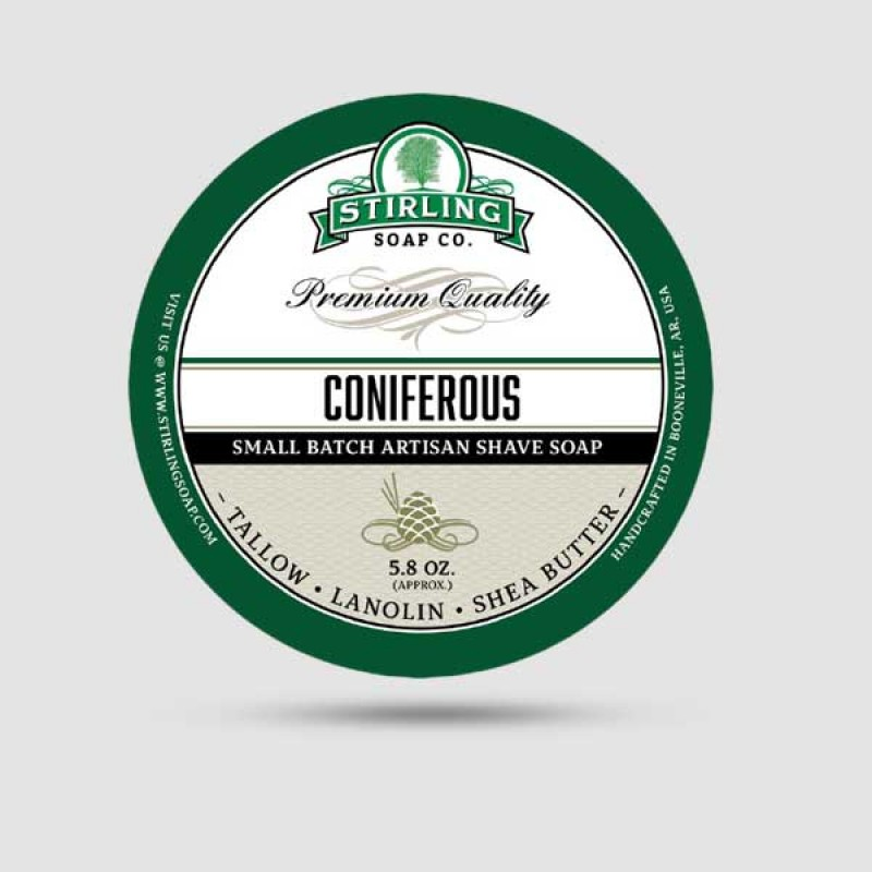 Σαπούνι Ξυρίσματος - Stirling Soap Company - Coniferous 170ml