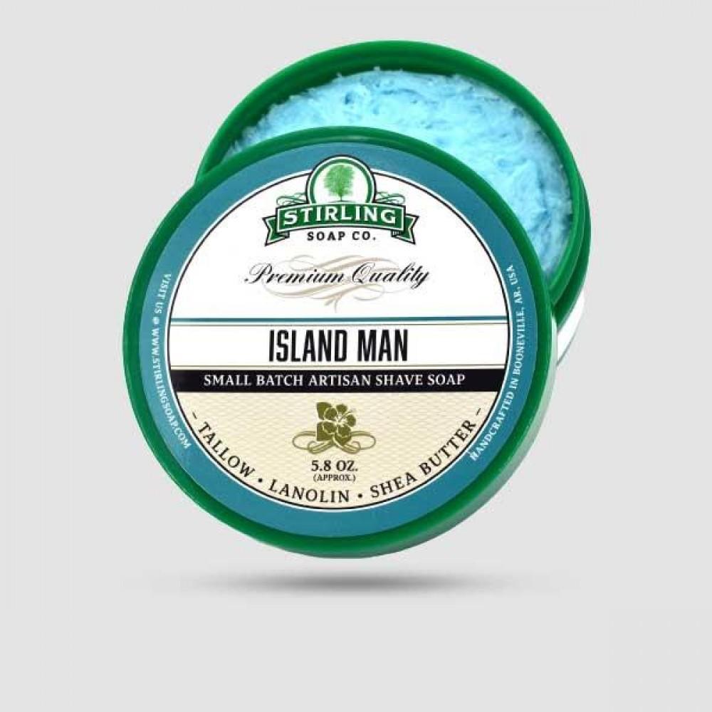 Σαπούνι Ξυρίσματος - Stirling Soap Company - Island Man 170ml