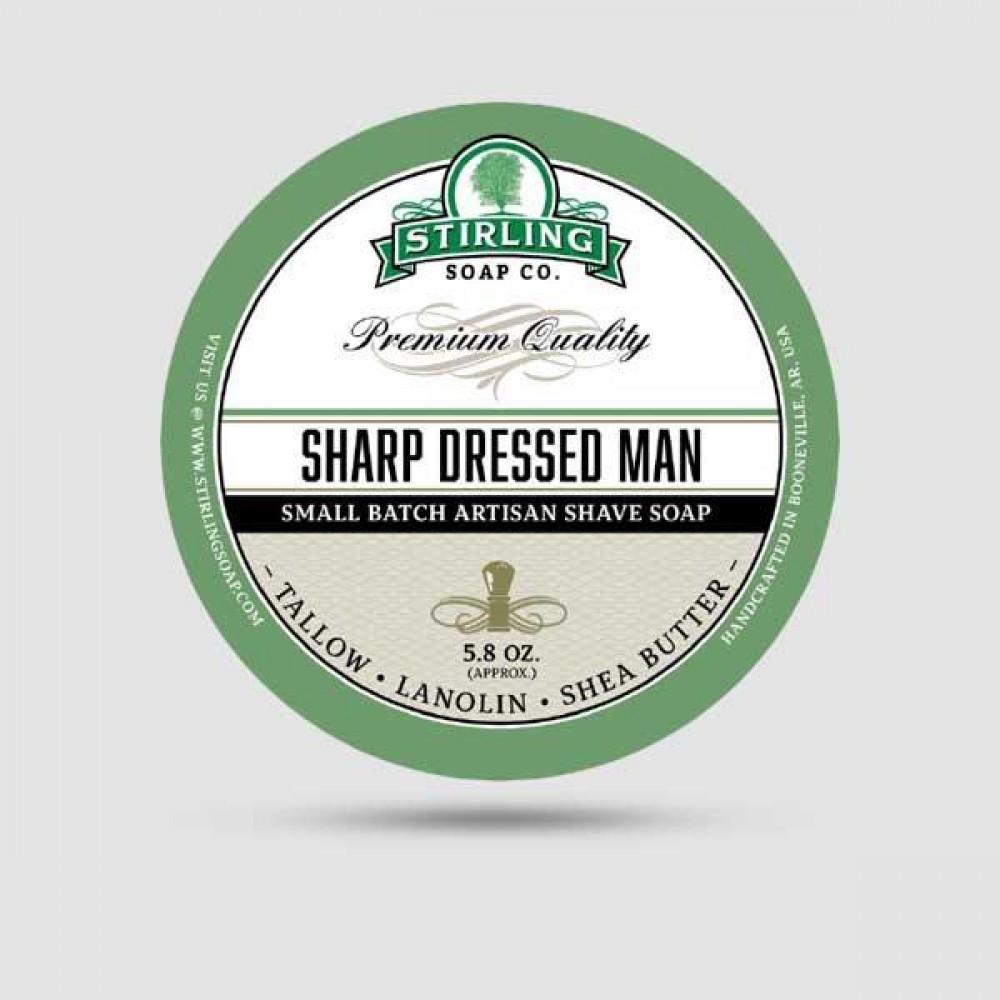 Σαπούνι Ξυρίσματος - Stirling Soap Company - Sharp Dressed Man 170ml