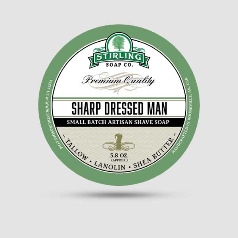Σαπούνι Ξυρίσματος - Stirling Soap Company - Sharp Dressed Man 170ml