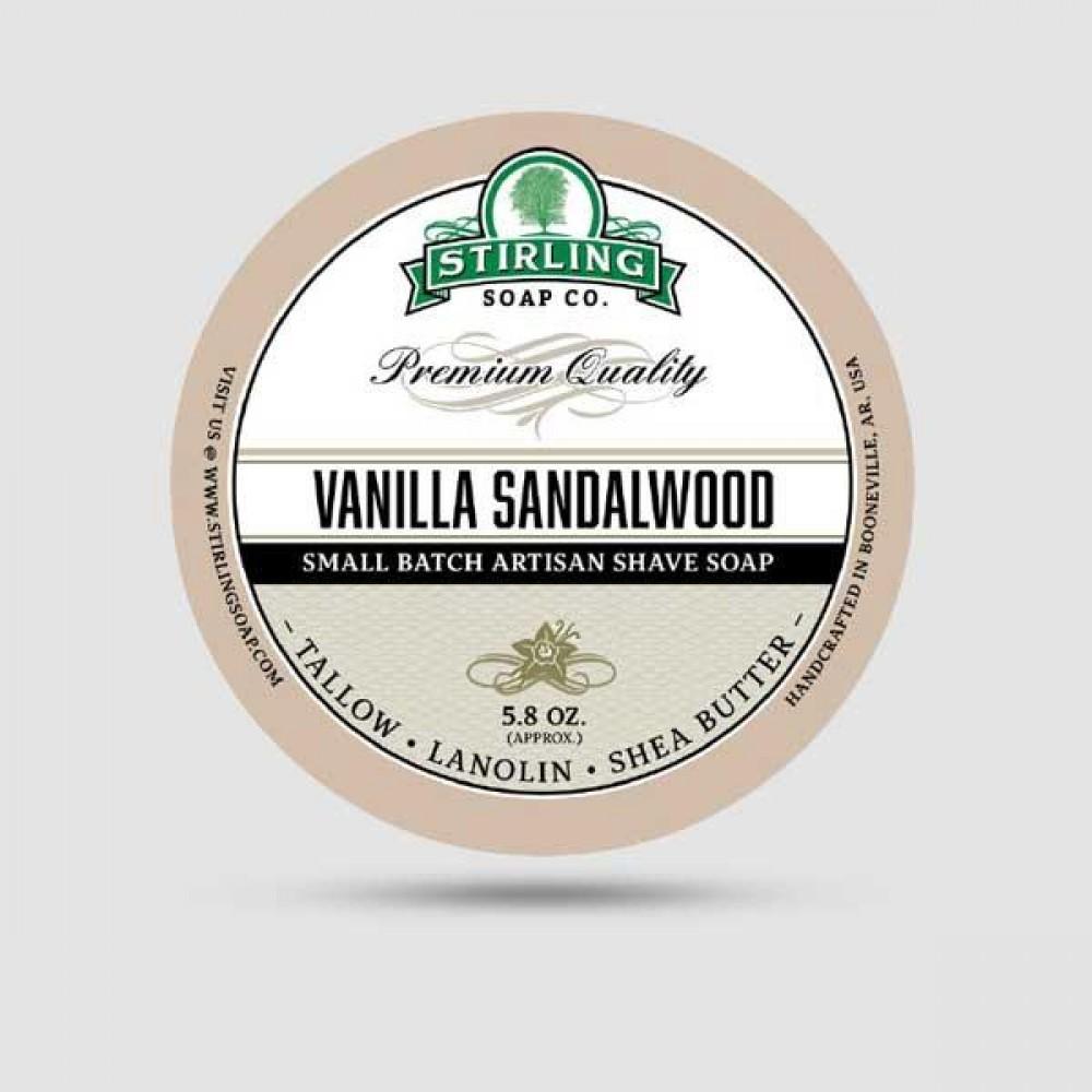 Σαπούνι Ξυρίσματος - Stirling Soap Company - Με Άρωμα Βανίλια & Σανδαλόξυλο 170ml