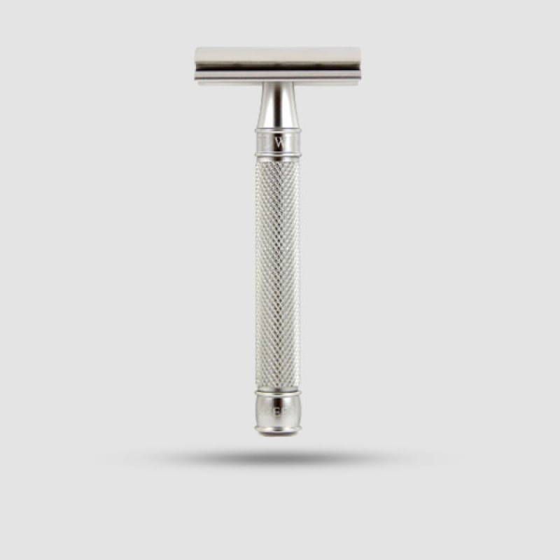 Safety Razor - Edwin Jagger - 3ONE6 Stainless Steel Knurled