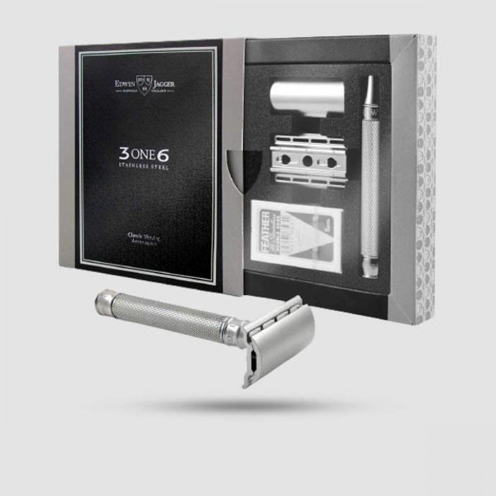 Ξυριστική Μηχανή -Edwin Jagger - 3ONE6 Stainless Steel Knurled