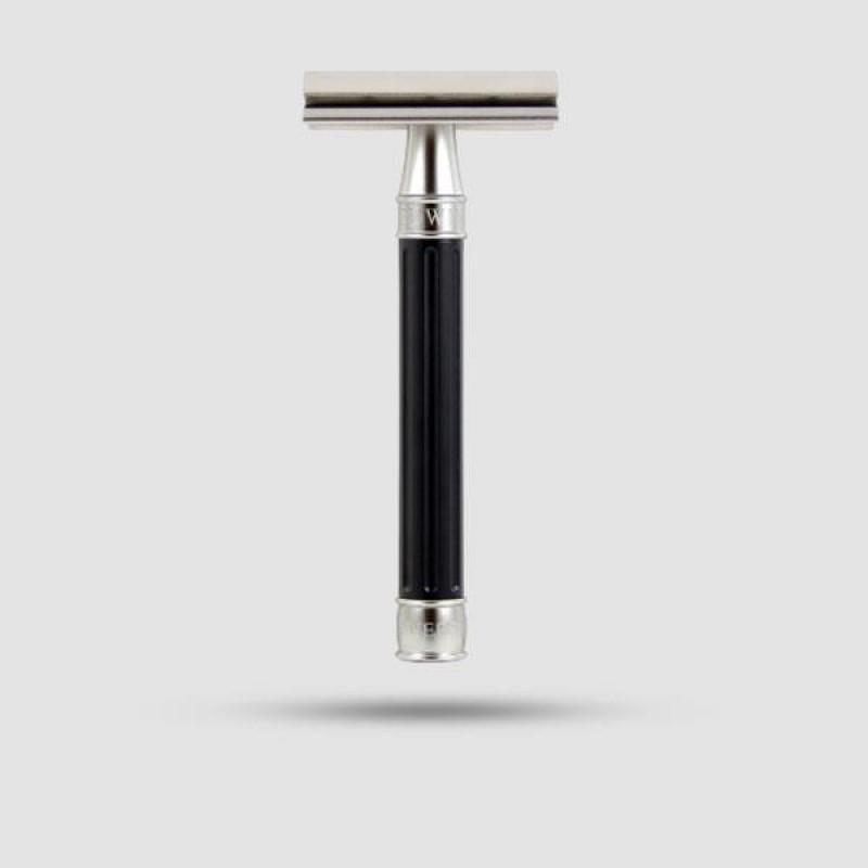 Safety Razor - Edwin Jagger - 3ONE6 Stainless Steel Black