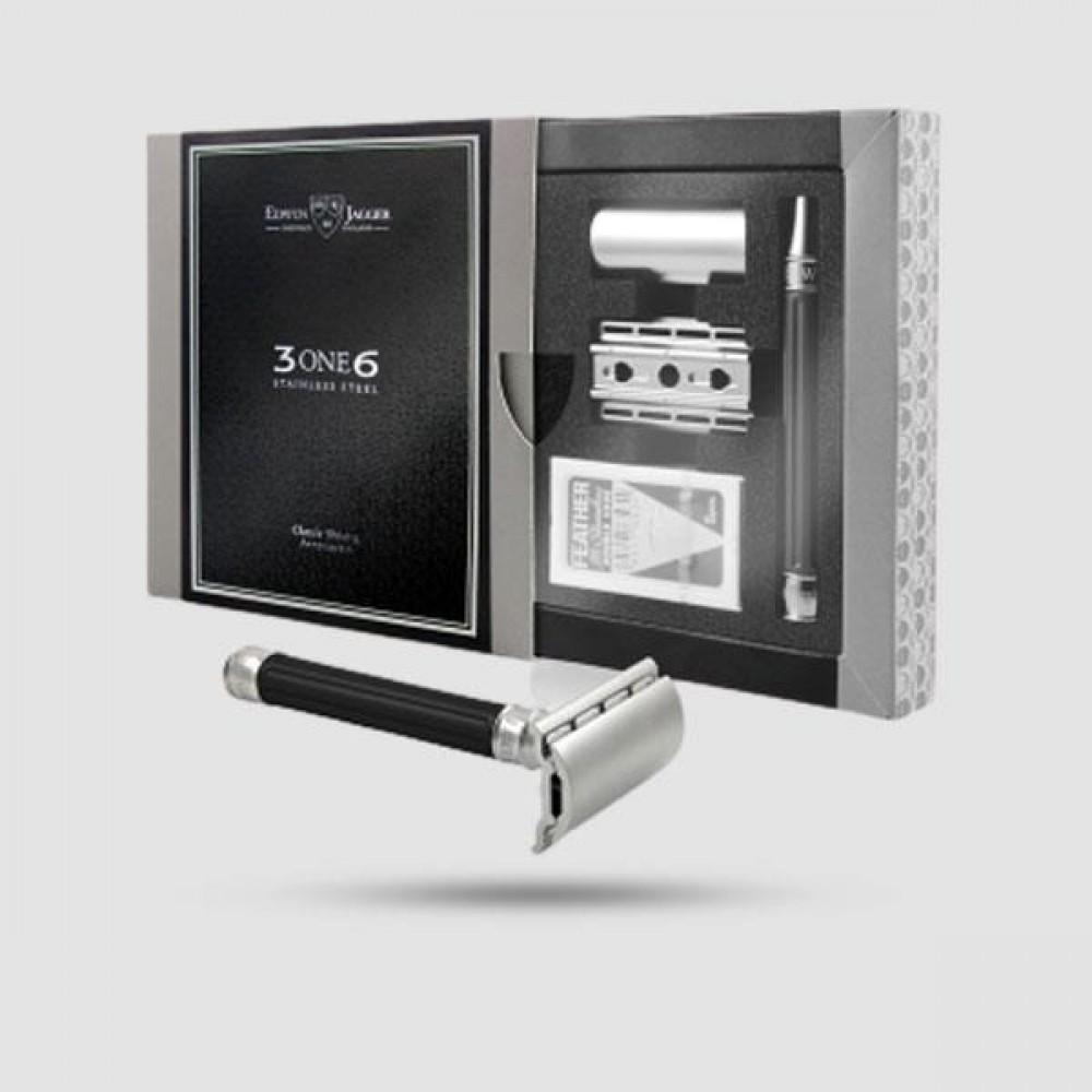 Ξυριστική Μηχανή -Edwin Jagger - 3ONE6 Stainless Stee lBlack