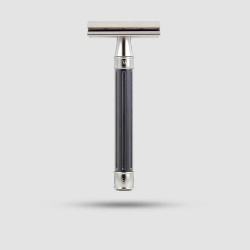 Safety Razor - Edwin Jagger - 3ONE6 Stainless Steel Gunmetal