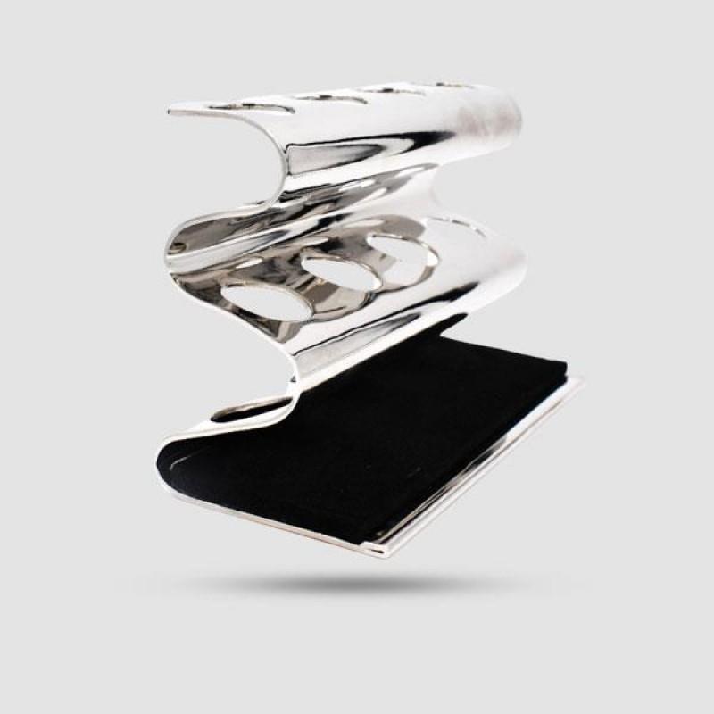 Deluxe Black Safety Razor Caddy - Parker - Chrome 4rzstd