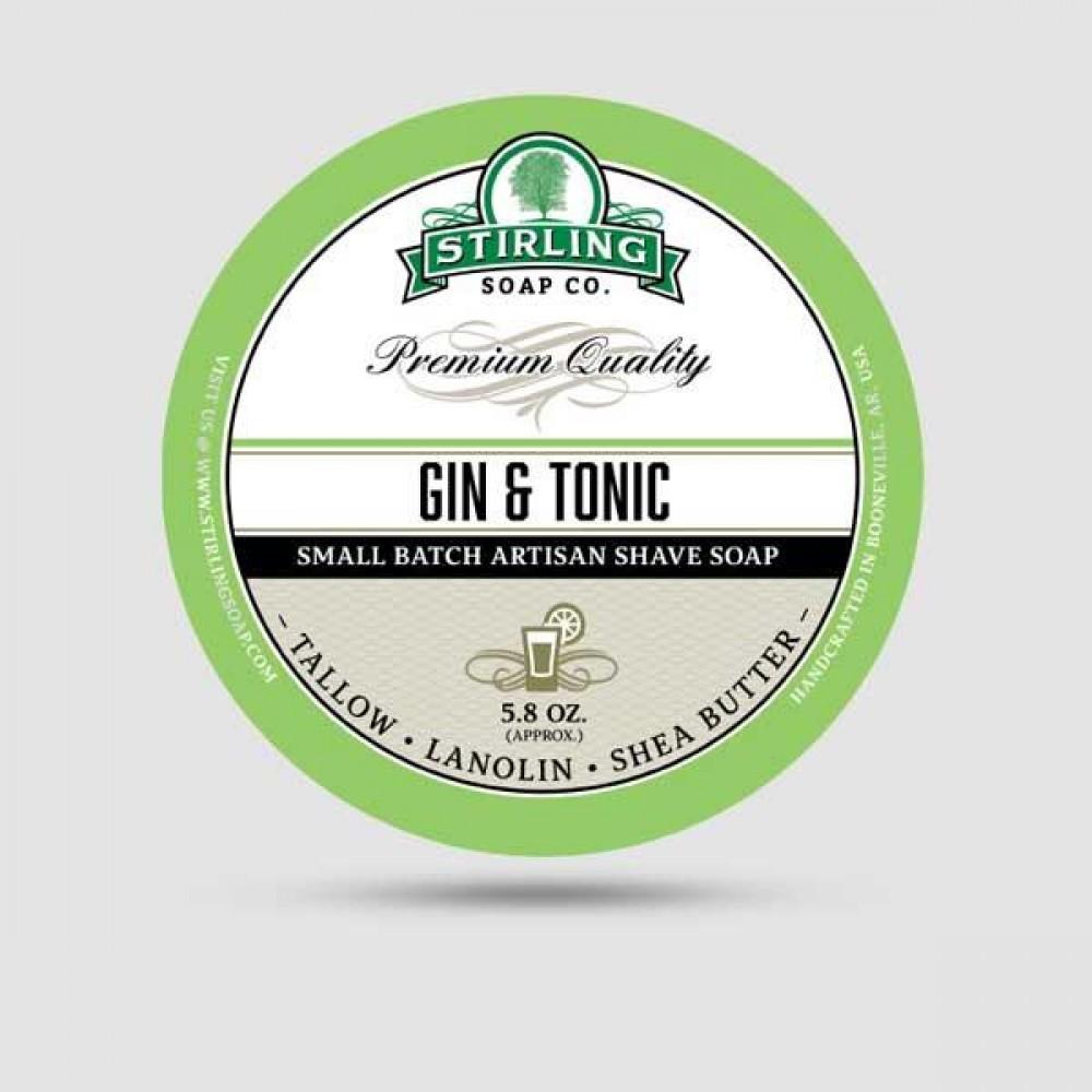 Σαπούνι Ξυρίσματος - Stirling Soap Company - Gin & Tonic on the rocks 170ml
