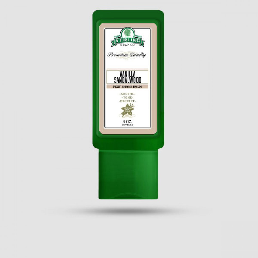 Aftershave Balm - Stirling Soap Company - Με Άρωμα Βανίλια & Σανδαλόξυλο 118ml